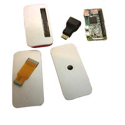 Raspberry Pi Zero WH med låda och sladdar - startkitt