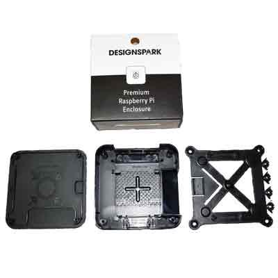 Raspberry Pi Quattro låda med VESA-fäste - alla delar i byggsats