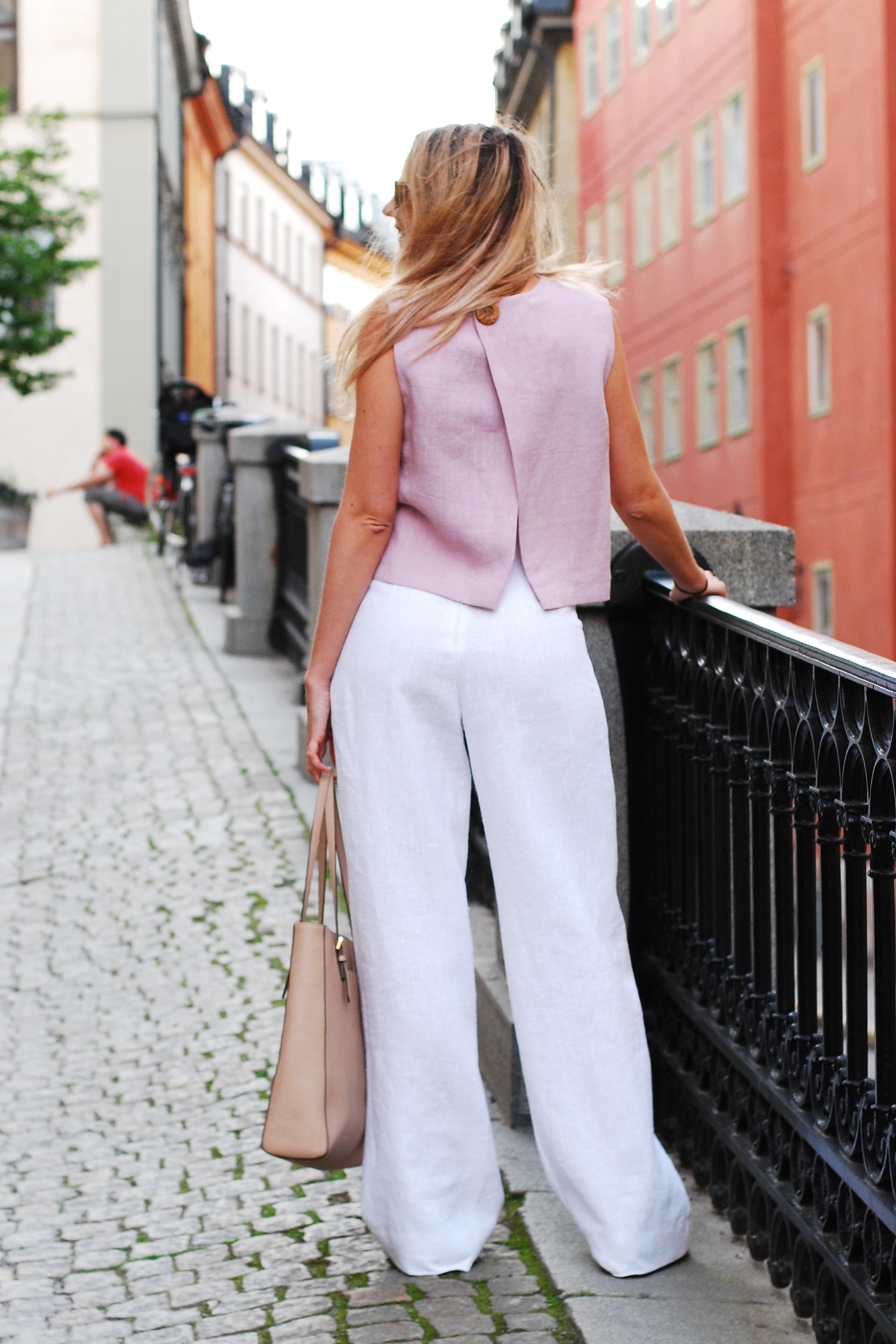 Linnebyxa i cert linne. Sys i Sverige.