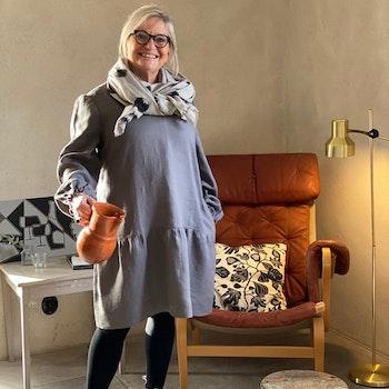 Tunika Alma i certifierat linne. Sys i Sverige.