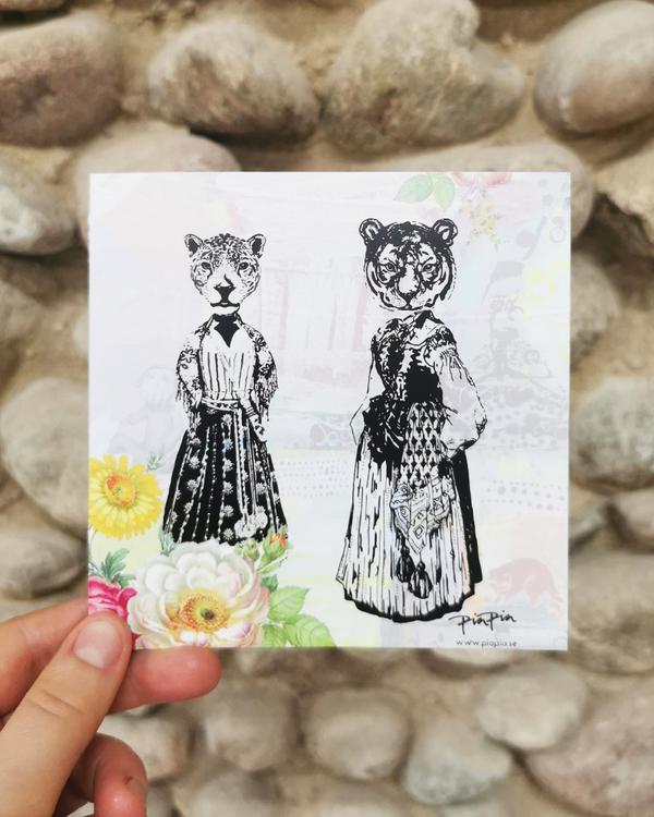 Dubbelvikt kort