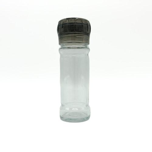 Glasburk med kvarn i locket