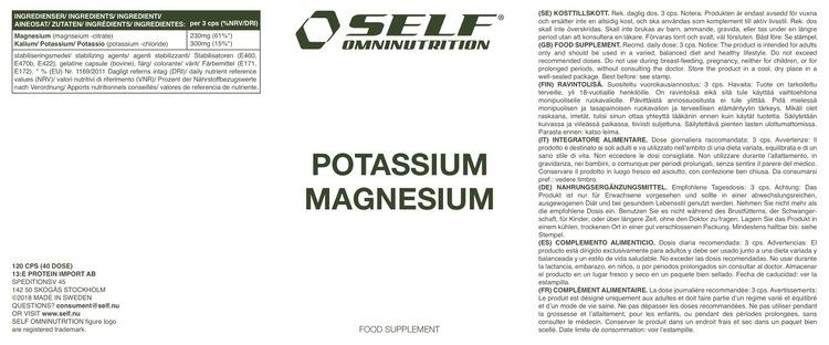 Potassium Magnesium, 120 cps