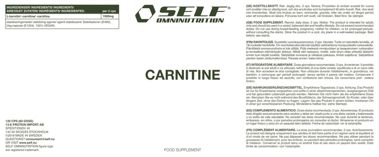 Carnitine, 120cps
