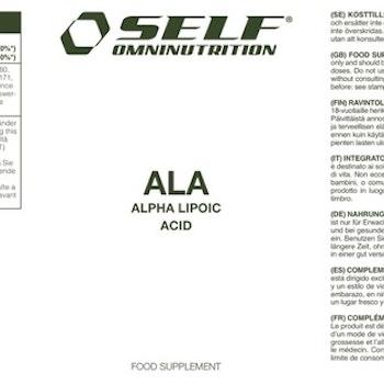ALA Alpha Lipoic Acid, 120cps