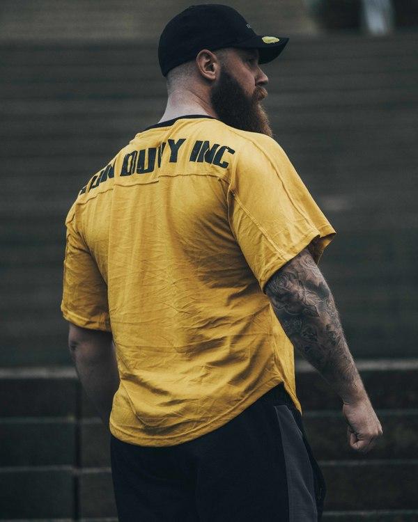 Old School T-shirt ID Inc, Mustard