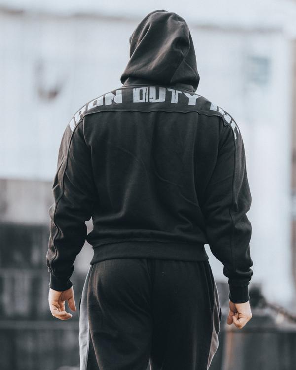 Iron Duty Original Rough Zip-Hoodie, Black