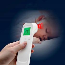 Kontaktlös febertermometer för panna