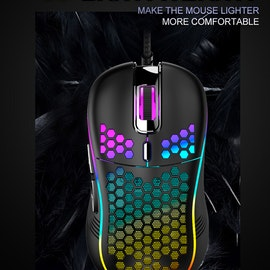 Pro Gaming Mus Black-neon Edition Trådad