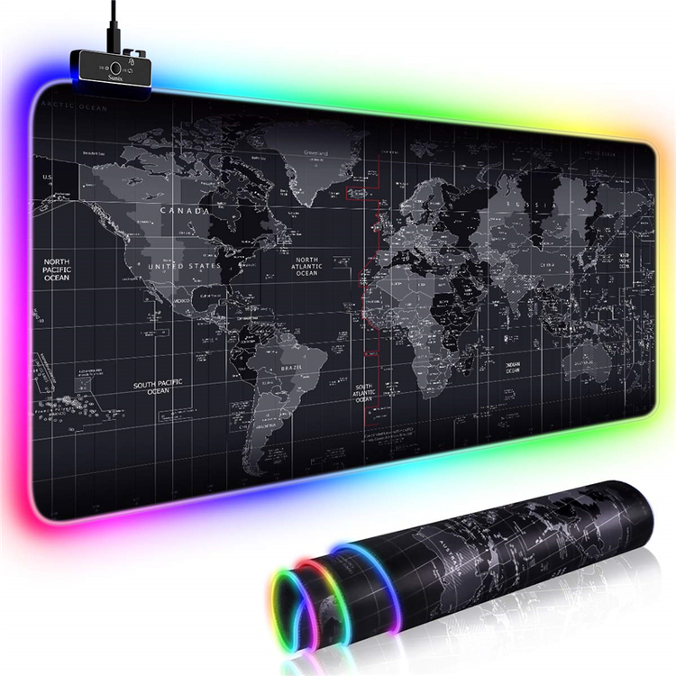 Pro Gaming Musmatta LED XXL Världskarta