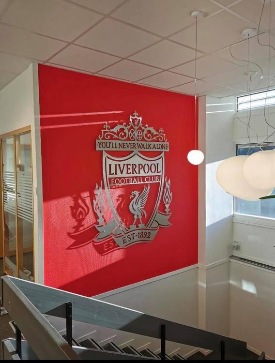 Stor Liverpool logo 120*150 cm Lages på bestilling
