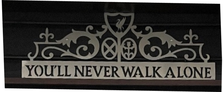 Veggskilt You`ll never walk alone