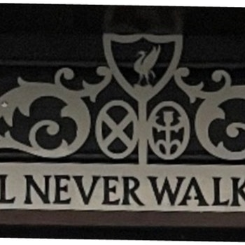 Veggskilt You`ll never walk alone