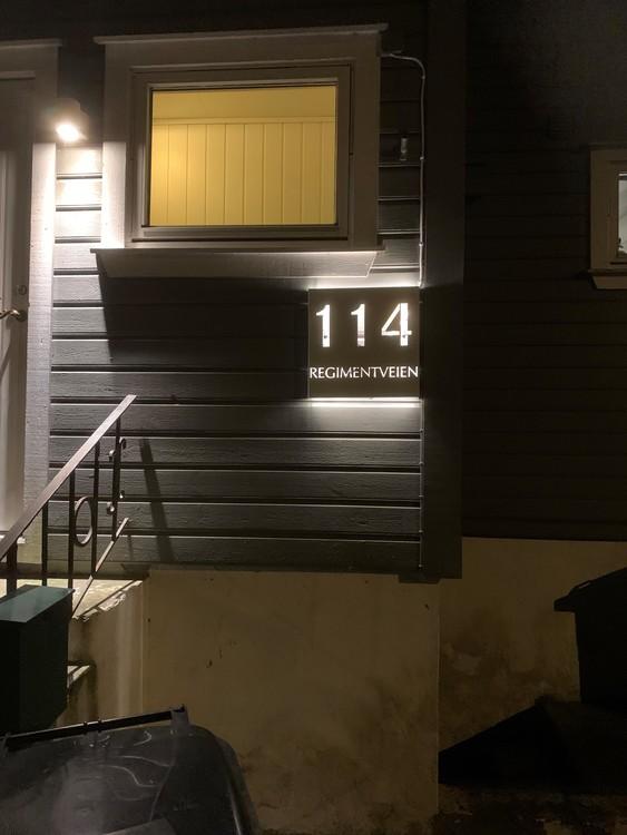 Husnummer med adresse
