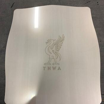 Pizza stein i stål m/ Liverpool logo 350x400mm