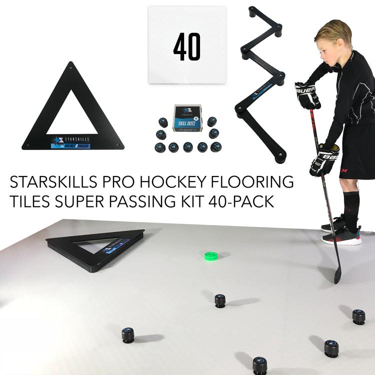 Starskills Pro Hockey Flooring Tiles Super Passing Kit 40-Pack