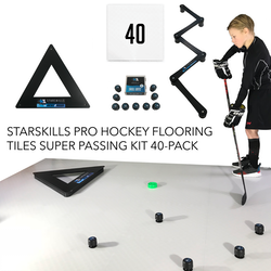 Starskills Pro Hockey Flooring Tiles Super Passing Kit 40-Pack
