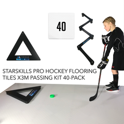 Starskills Pro Hockey Flooring Tiles X3M Passing Kit 40-Pack