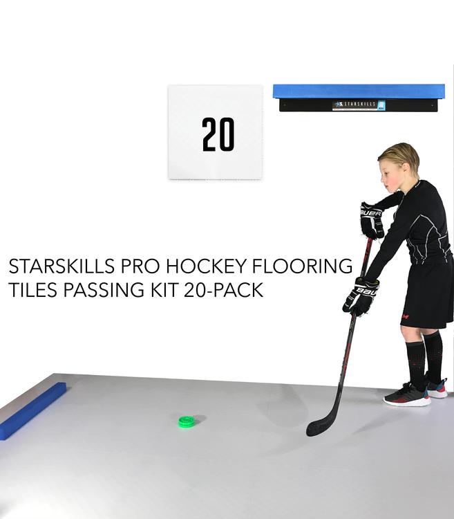 Starskills Pro Hockey Flooring Tiles Passing Kit 20-Pack