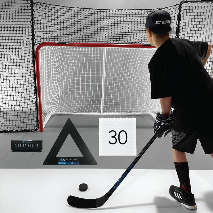 Starskills Hockey Pro Flooring Tiles Premium Shooting Kit 30-Pack