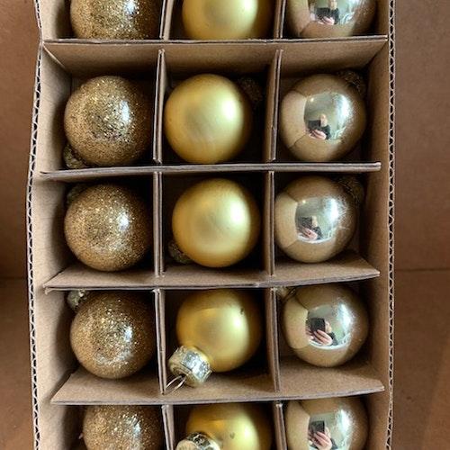 Mini julkulor guld