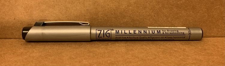Zig millenium svart 0,05