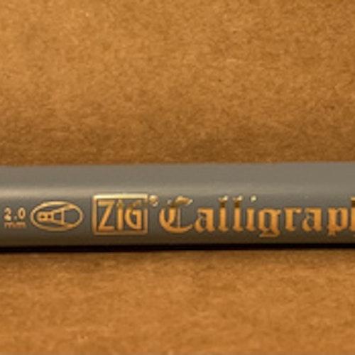 Kalligrafi två spetsar