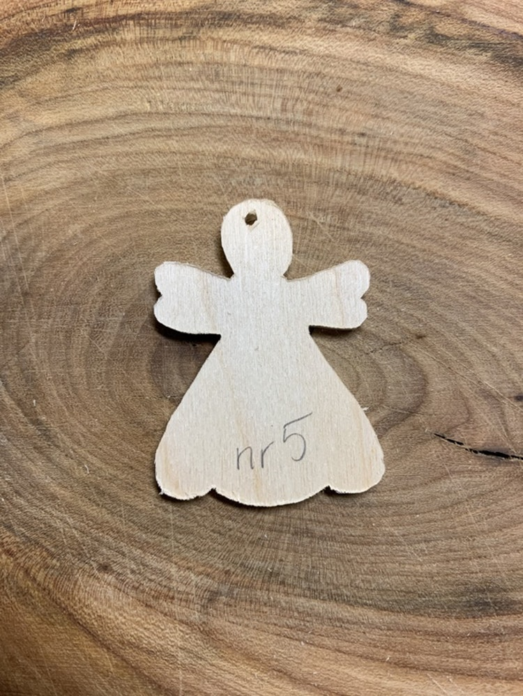 Trä-ängel nr 4x5,5 cm, 3 mm