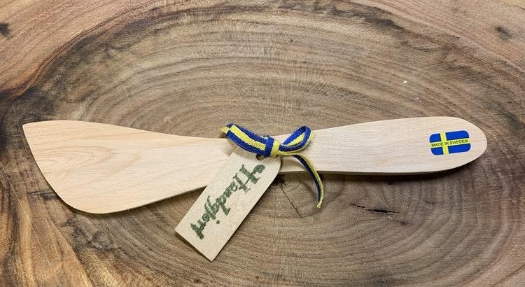 Smörkniv handgjord i ene, ca 18 cm