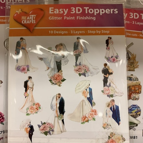 3D Toppers 10 st