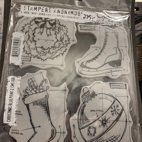 Stampers Anomymous Christmas blueprint cms168