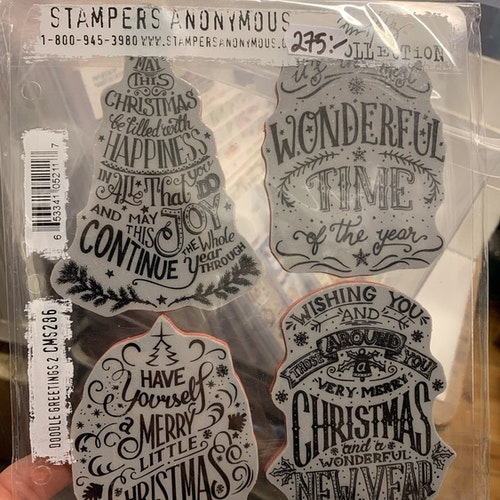 Stampers Anomymous Doodle greetings 2 cms296
