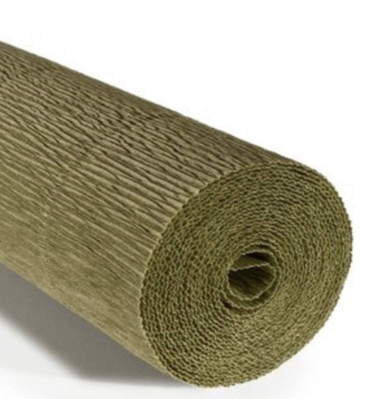 COD. 612 CREPE PAPER Gr.180  Antique Green Earth