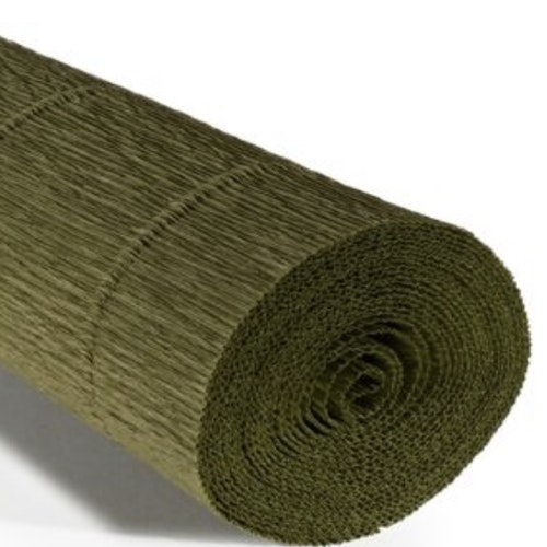 COD. 17A8 CREPE PAPER Gr.180  Olive Green by Tiffanie Turner