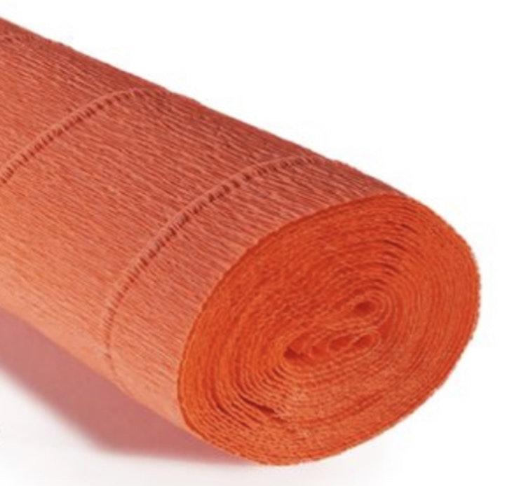 COD. 581 CREPE PAPER Gr.180  Fluo Orange