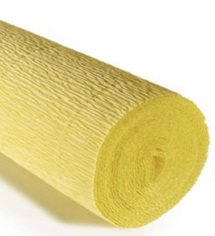 COD. 574 CREPE PAPER Gr.180  Carminio Yellow