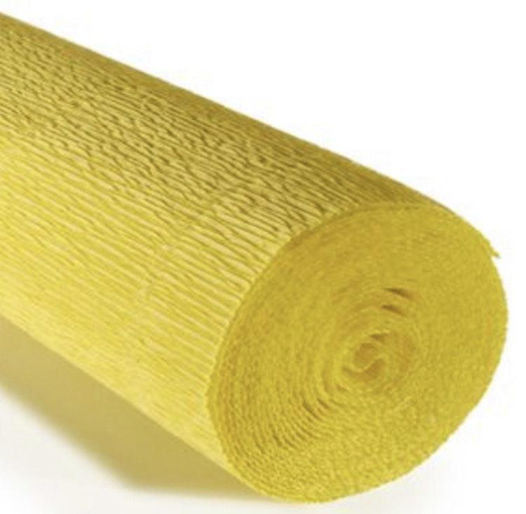 COD. 575 CREPE PAPER Gr.180  Lemon Yellow