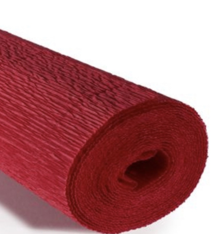 COD. 589 CREPE PAPER Gr.180  Scarlet Red