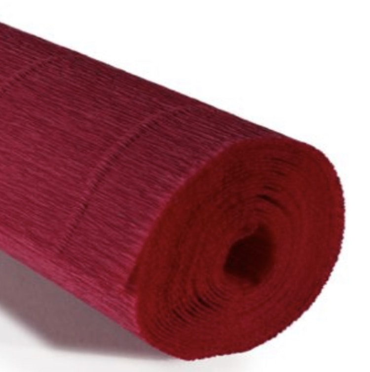 COD. 586 CREPE PAPER Gr.180  Carminic Red