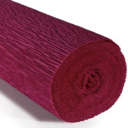 COD. 584 CREPE PAPER Gr.180  Cardinal Red