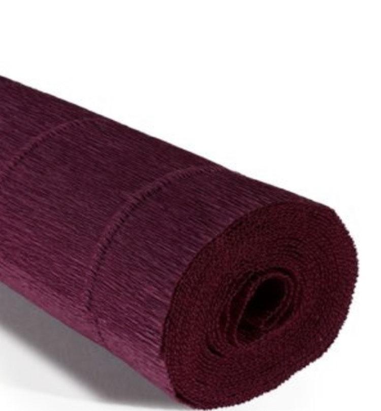 COD. 588 FLORIST CREPE PAPER 180g - Bordeaux Red  Bordeaux Red