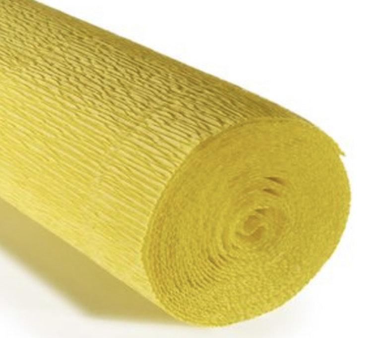 COD. 975 CREPE PAPER Gr.140  Lemon Yellow