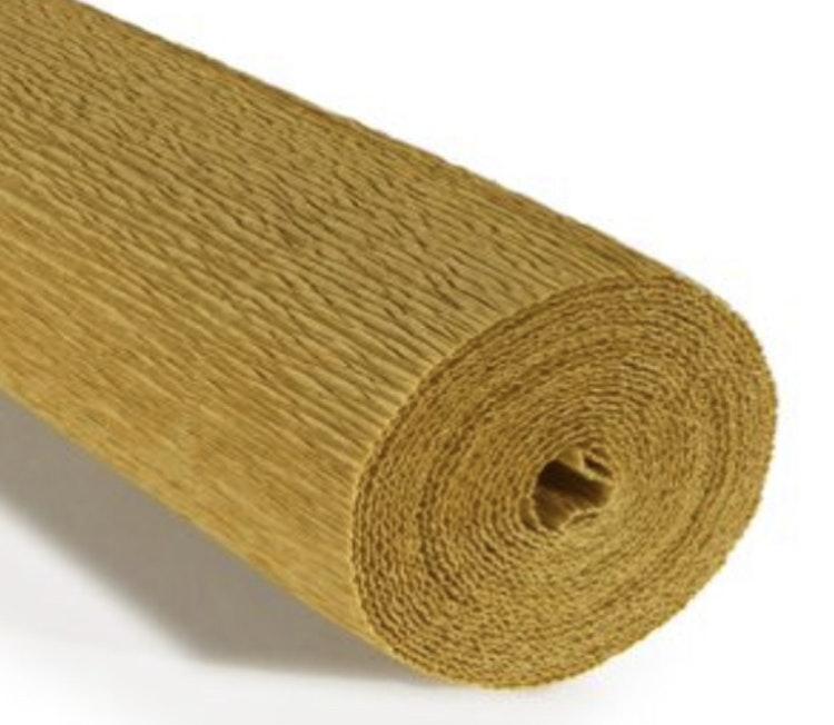 COD. 979 FLORIST CREPE PAPER 140 g. - Yellow Mustard  Yellow Mustard