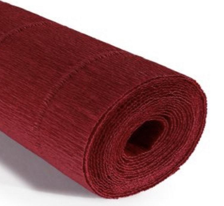 COD. 983 FLORIST CREPE PAPER 140 g. - Marsala Red  Marsala Red