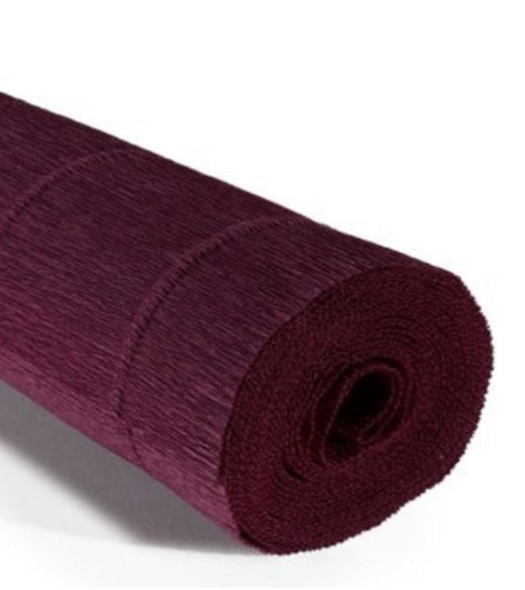 COD. 988 CREPE PAPER Gr.140  Bordeaux Red