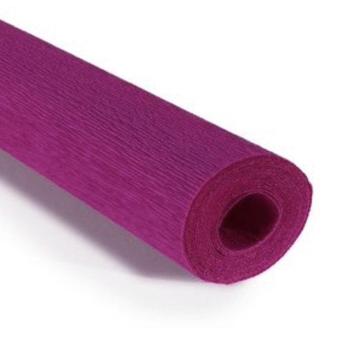 COD. 376 CREPE PAPER 90g 50x150 - Viola Ciclamino - Cyclamen Violet