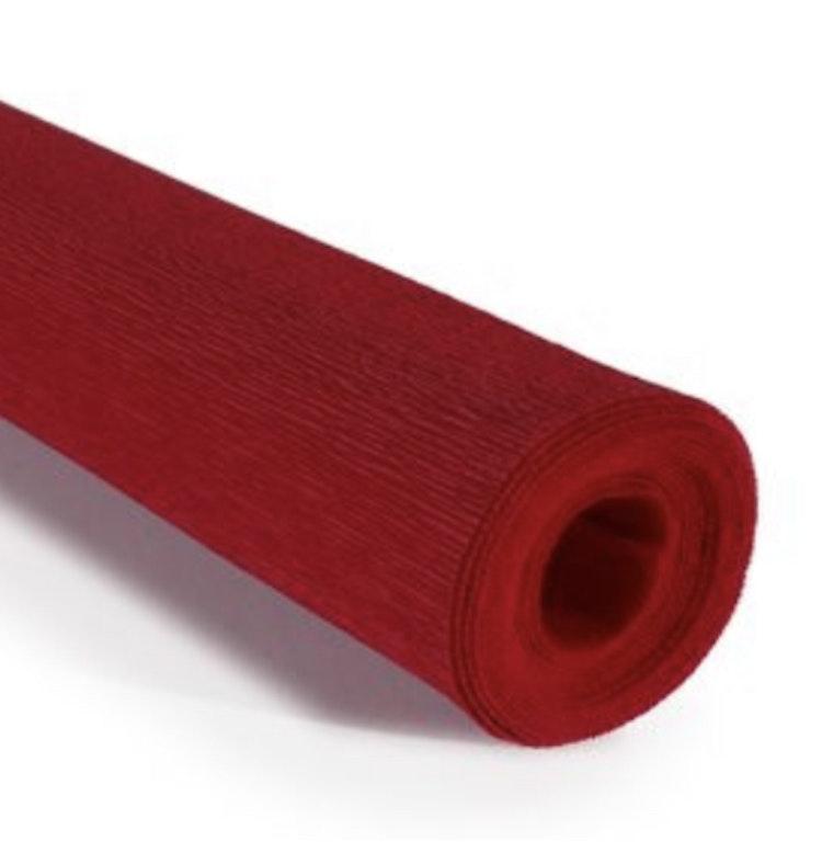 COD. 364 CREPE PAPER 90g 50x150 - Burgundy Red
