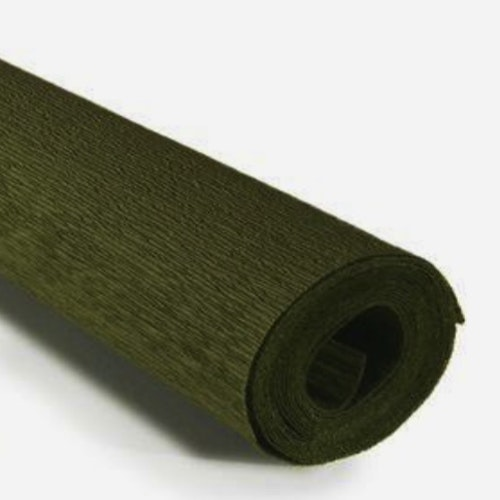 COD. 388 CREPE PAPER 90g 50x150 - Grey Green -  Apple Green
