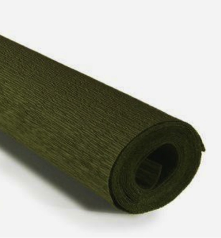 COD. 388 CREPE PAPER 90g 50x150 - Grey Green -  Apple Green