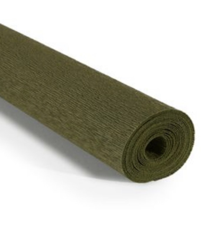 COD. 368 CREPE PAPER 90g 50x150 - Olive Green by Tiffanie Turner